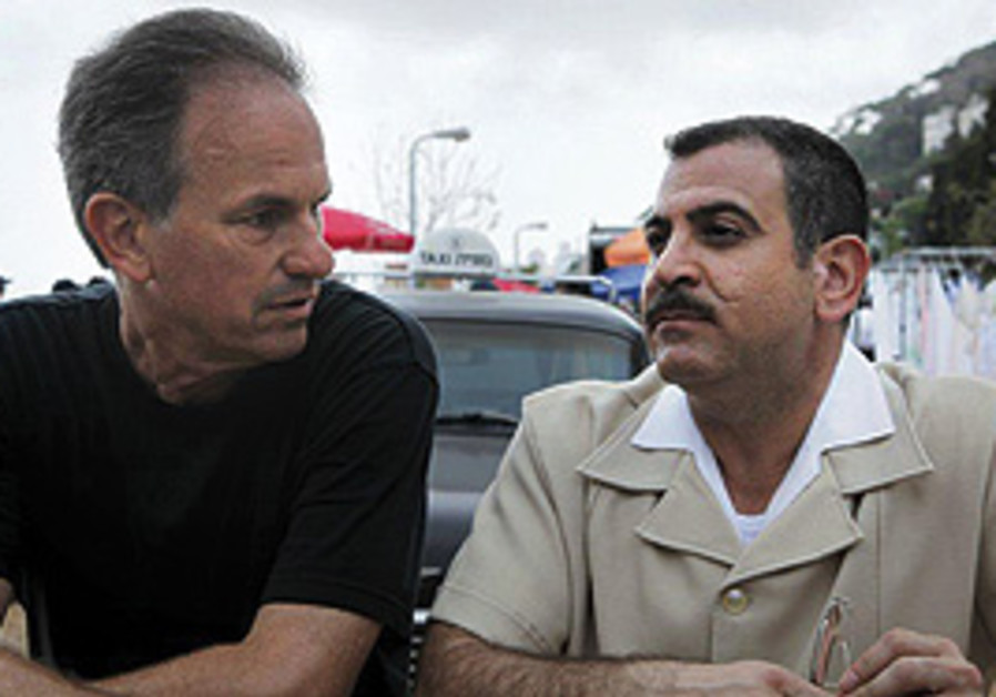 Director Avi Nesher with Eli Yatzpan on the set of