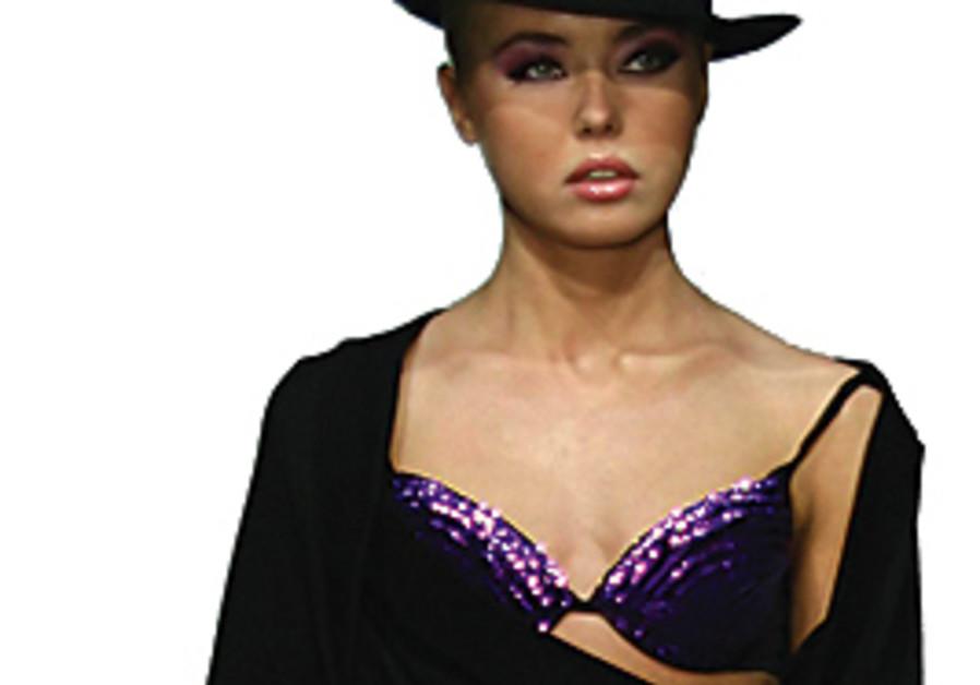 Model Anna Andreeva in very thin times. Adi Barkan