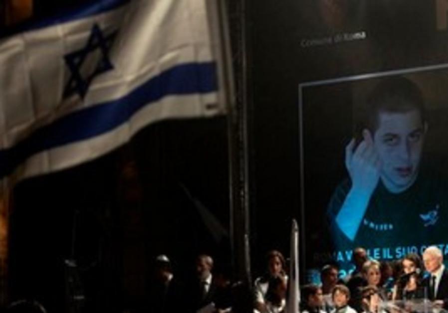 Gilad Schalit demo in Rome