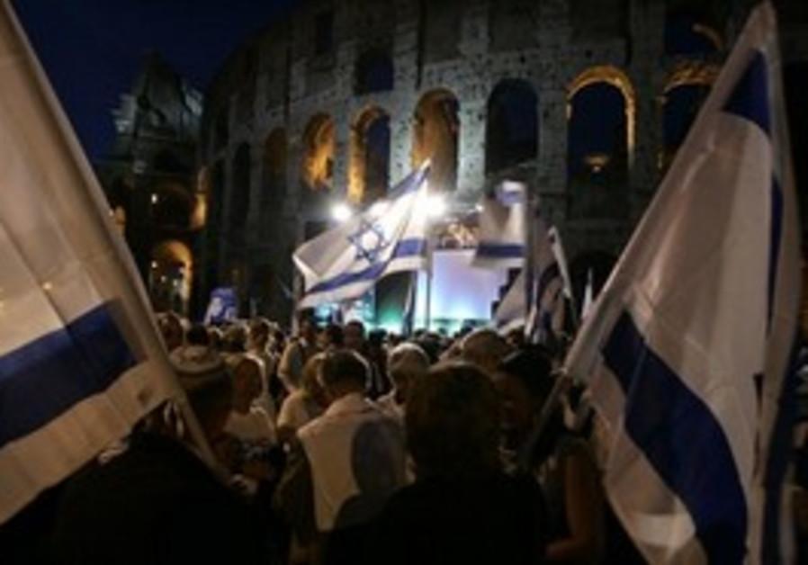 Colosseum Schalit protest