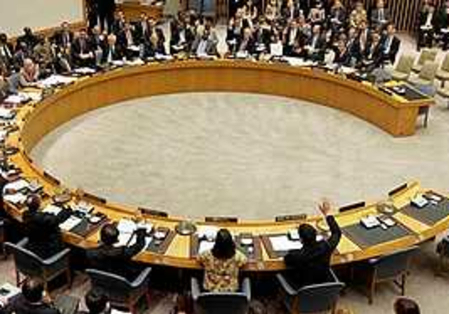 The members of the U.N. Security Council vote on s