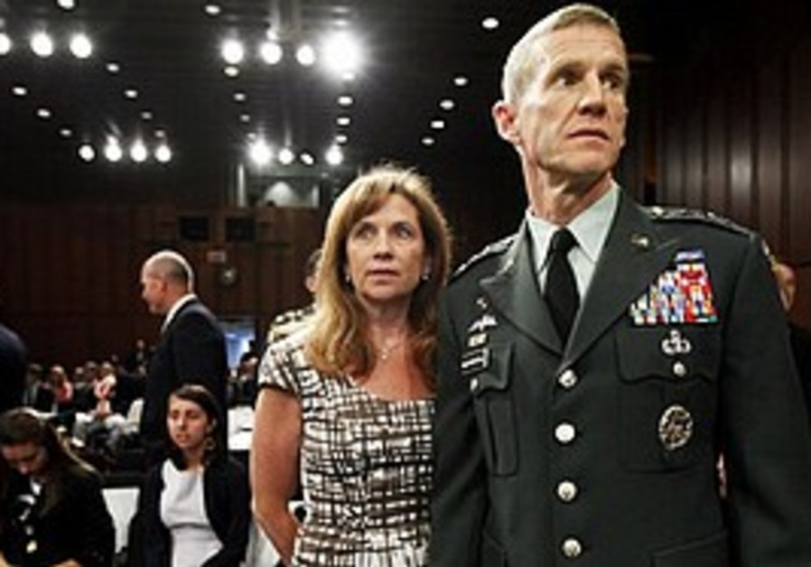 US General Stanley McChrystal with wife Annie, 200