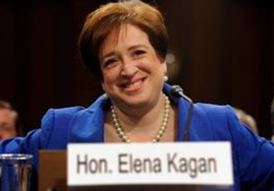 Elena Kagan at her confirmation hearings