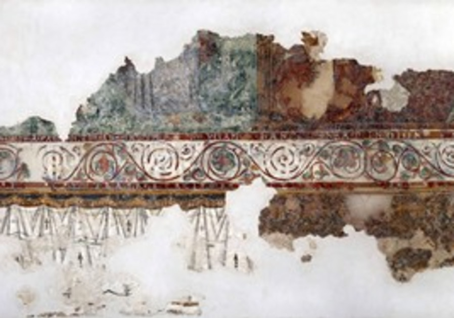 Fresco at the Israel Museum