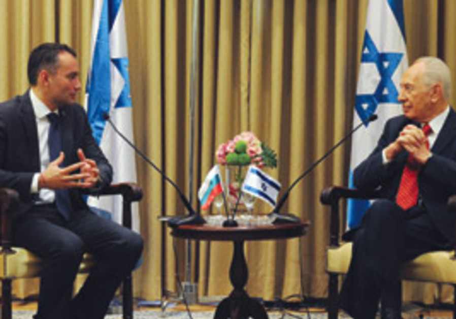 Nikolai Mladinov and Shimon Peres