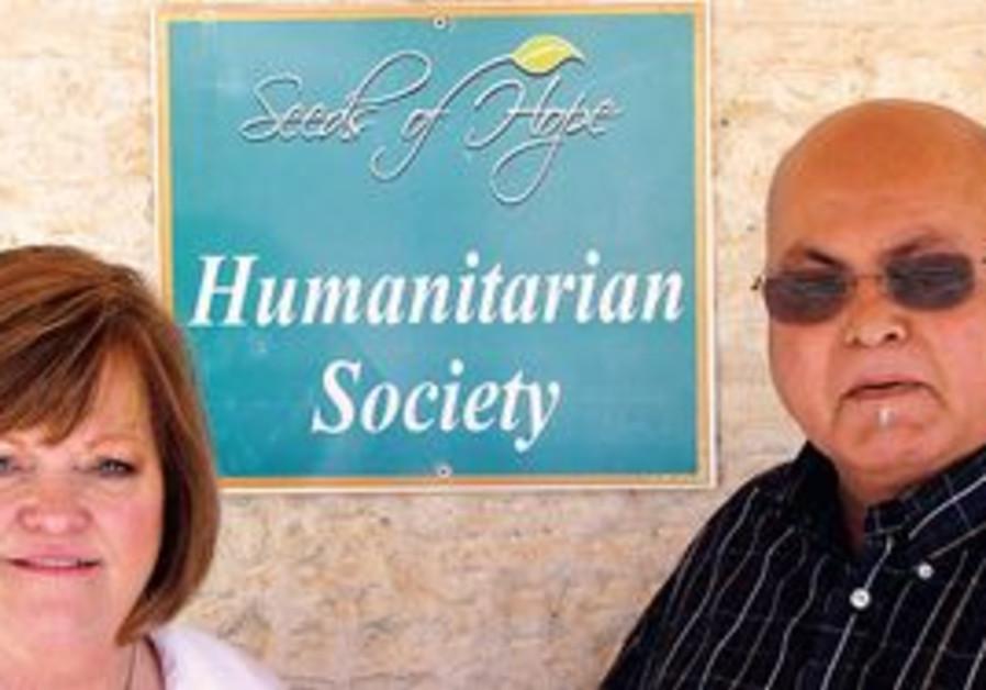 Saada at their Seeds of Hope school in Jericho