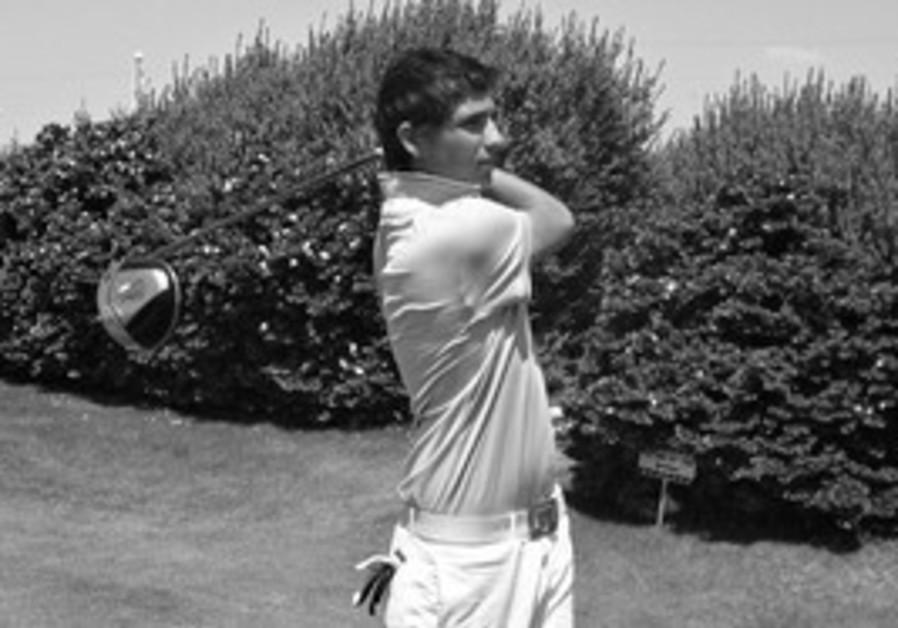 Uri Bogoslovsky on the first tee at Ga'ash Golf Co