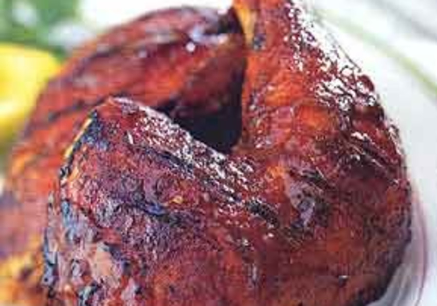Beer barbecue chicken.