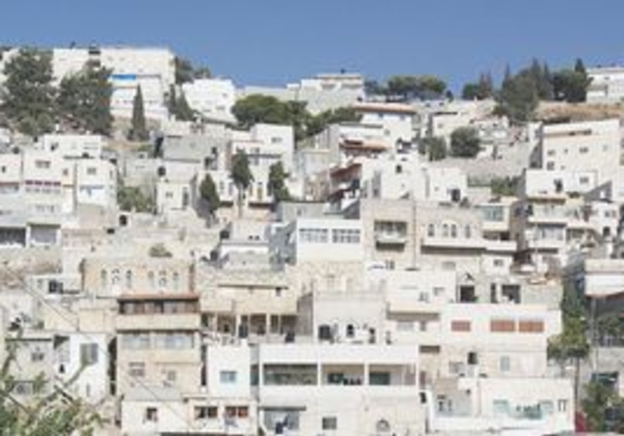 The east Jerusalem neighborhood Silwan.