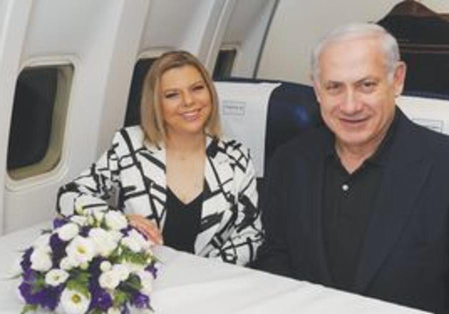 Netanyahu on plane