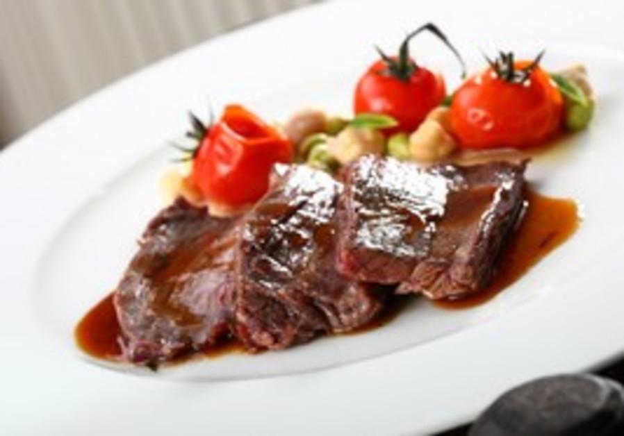 Tender in tehina. The butcher's steak.