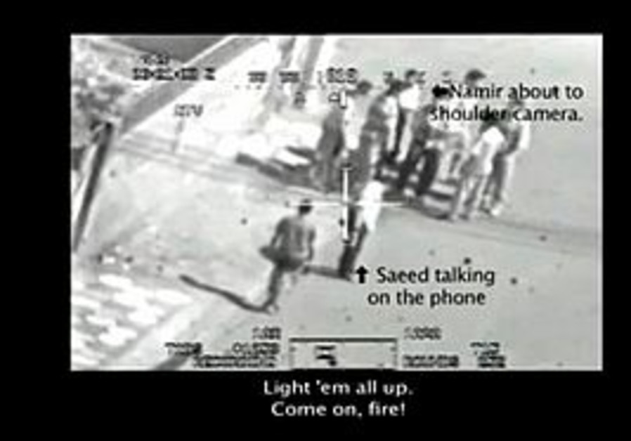 Screencap from video leaked by US Army soldier Bra