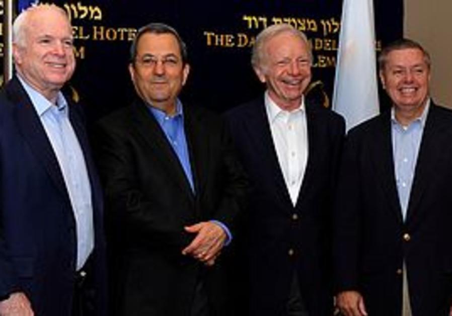 Senators John McCain, Joseph Lieberman and Lindsey