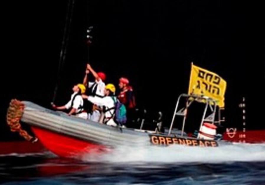 Greenpeace takes over a ship