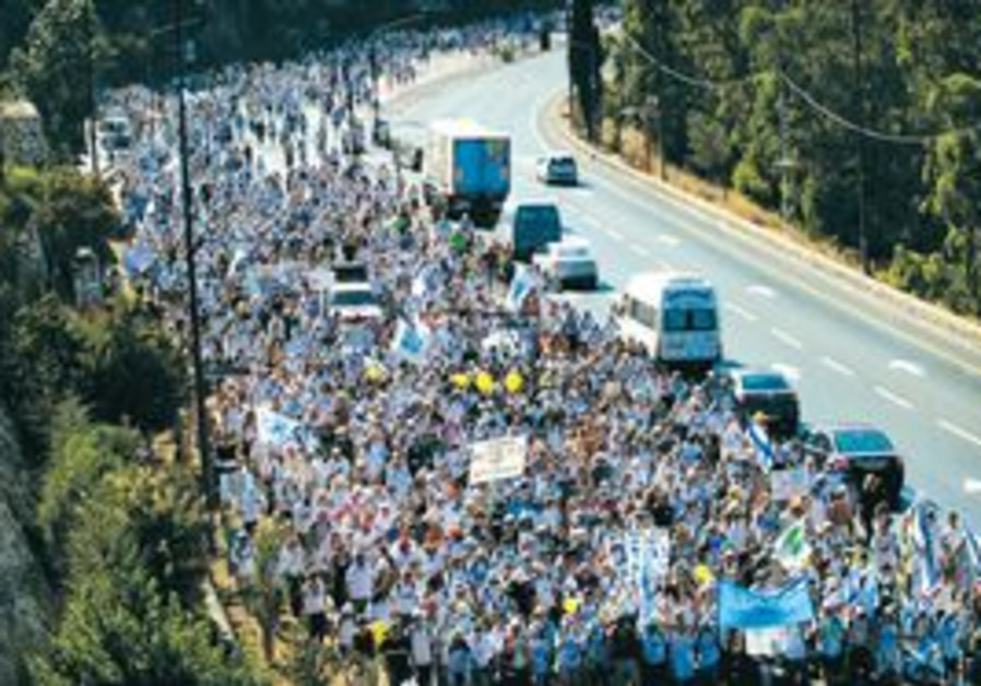 Schalit march en ruote to jerusalem
