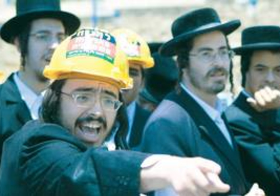 Haredim in hard hats