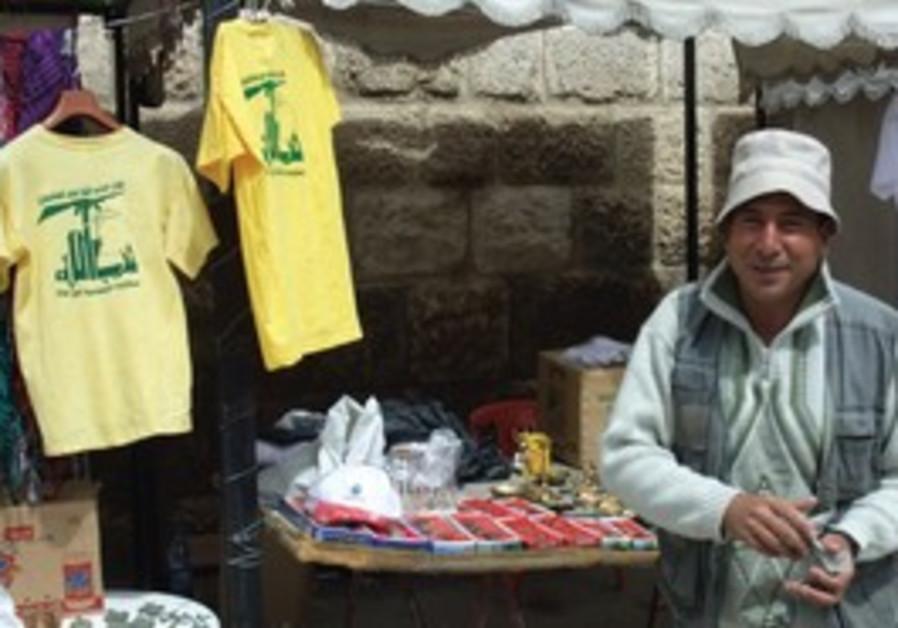NEW MARKETING: A souvenir seller in Baalbek offers