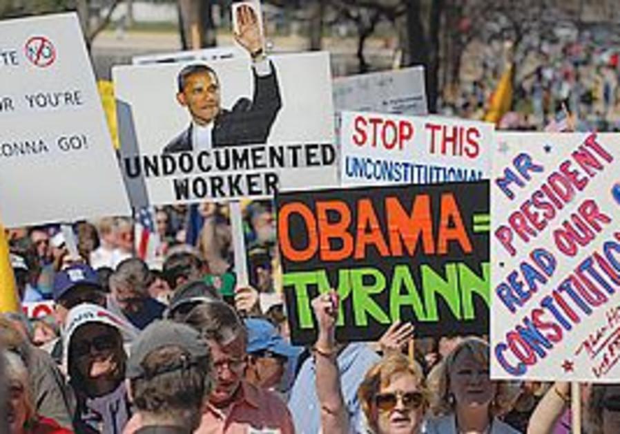Washington rally opposing healthcare reform
