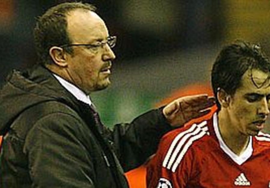 Yossi Benayoun and Rafa Benitez