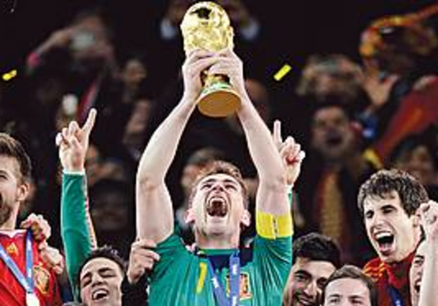 Spain wins the World Cup 2010