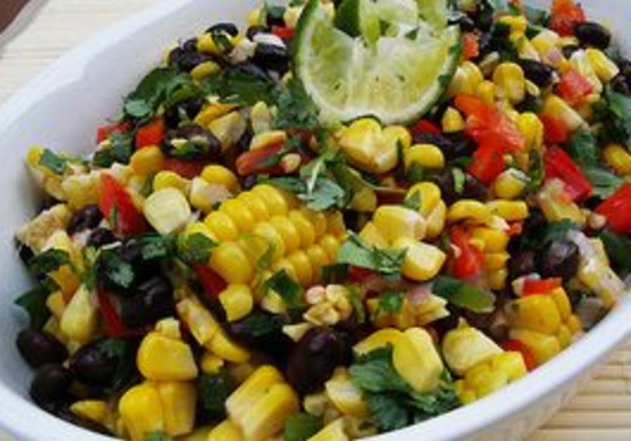 Black bean corn salsa salad.