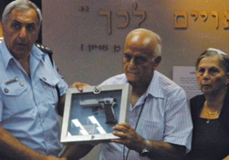 Family of slain police officer Yehoshua Sofer.