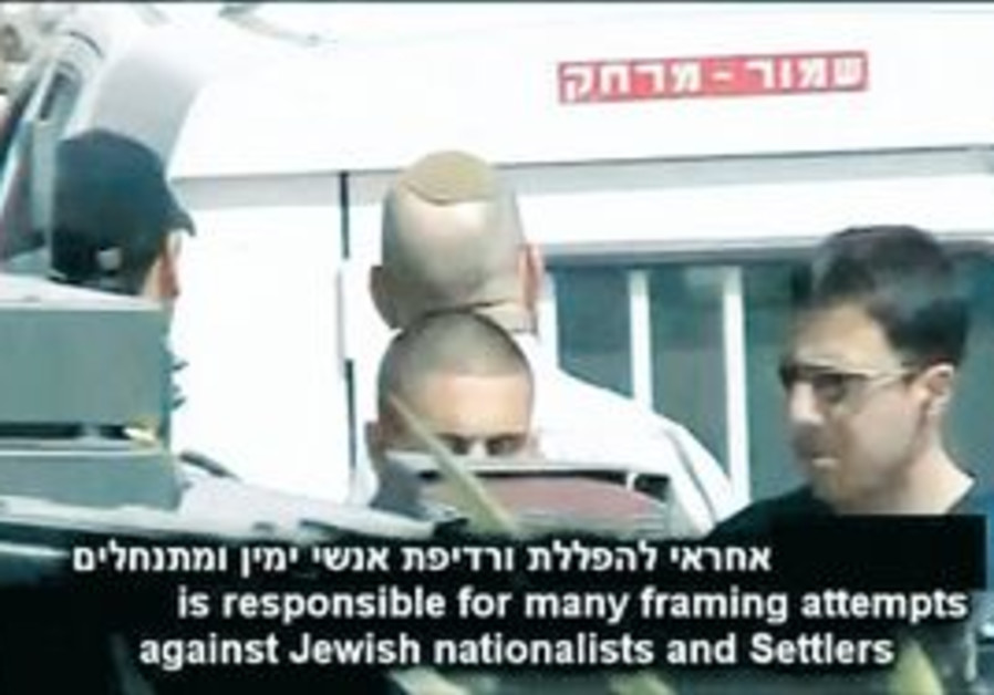 A FRAME from the video that exposes the Shin Bet's Jewish Division head. The camera 'is our new weap