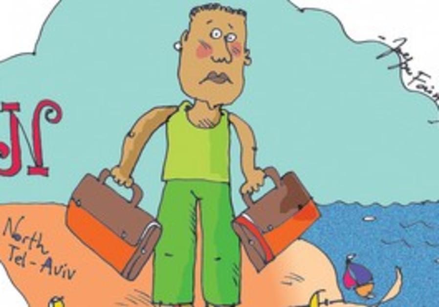 Cartoon of migrant worker