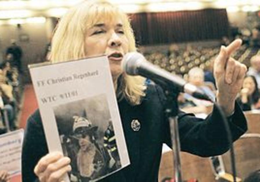 SALLY REGENHARD, who lost her son during the September 11 attacks on the World Trade Center, speaks