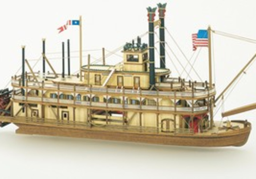 THE MISSISSIPI – a late 19th-early 20th century river boat, by model-maker Yaakov Eshel.