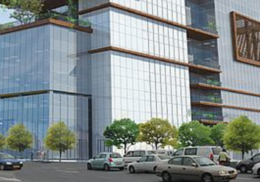 THE ARCHITECT'S vision of the Azouri Ecotower on Hamasger Street.