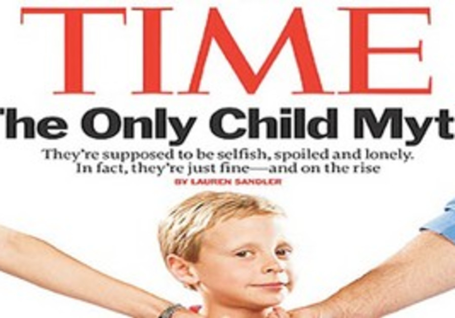 THE TIME magazine cover issue of July 19 argues that only children can be quite successful, citing F