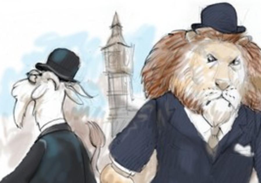 Caricature of English anti-Semitism