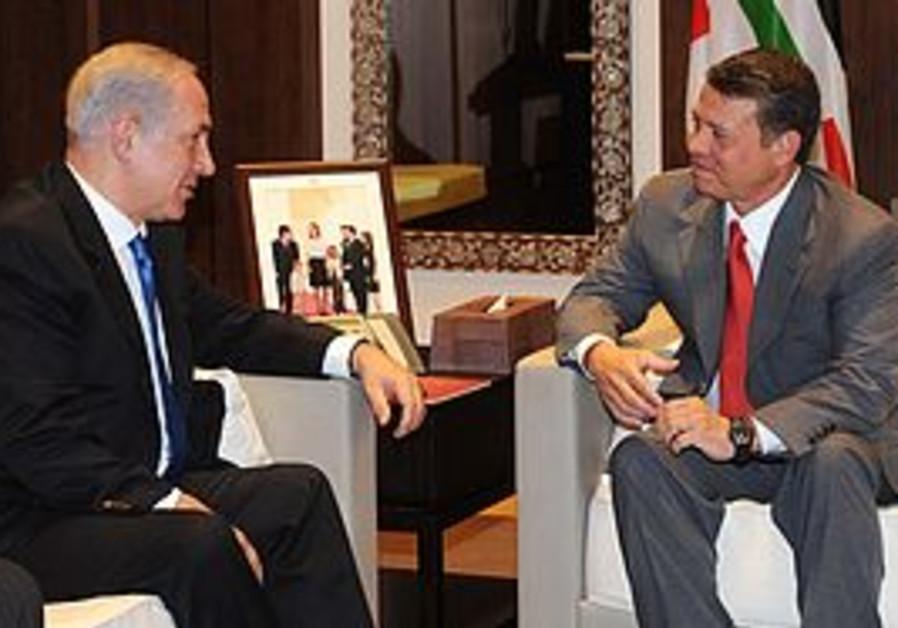 Prime Minister Binyamin Netanyahu and Jordanian King Abdullah II met in Amman to discuss peace talks