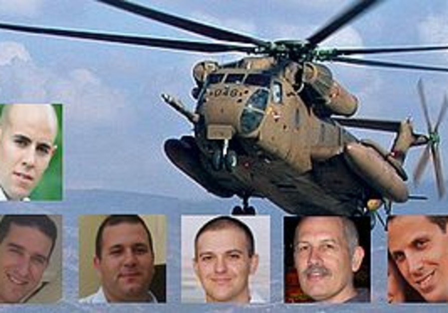 The 6 IAF crew members that were on the helicopter that crashed in Romania