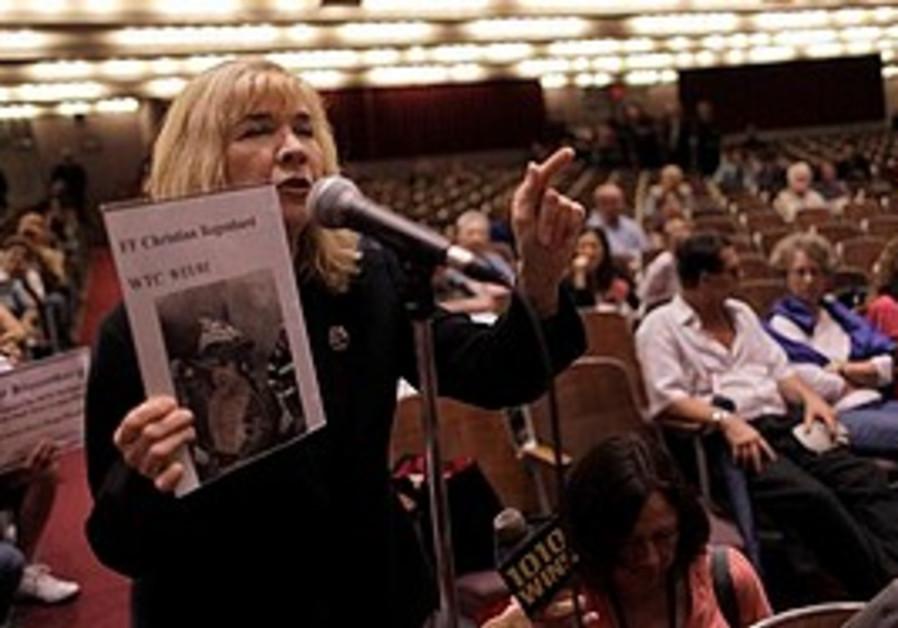 Sally Regenhard, who lost her son Christian Regenhard in the Sept. 11 attacks, speaks out against th