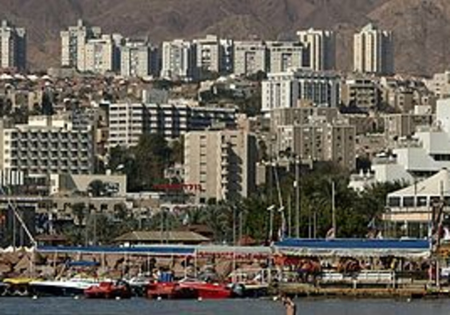 The southern city of Eilat.