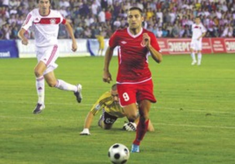 Photo from FK Aktobe-Hapoel Tel Aviv game.