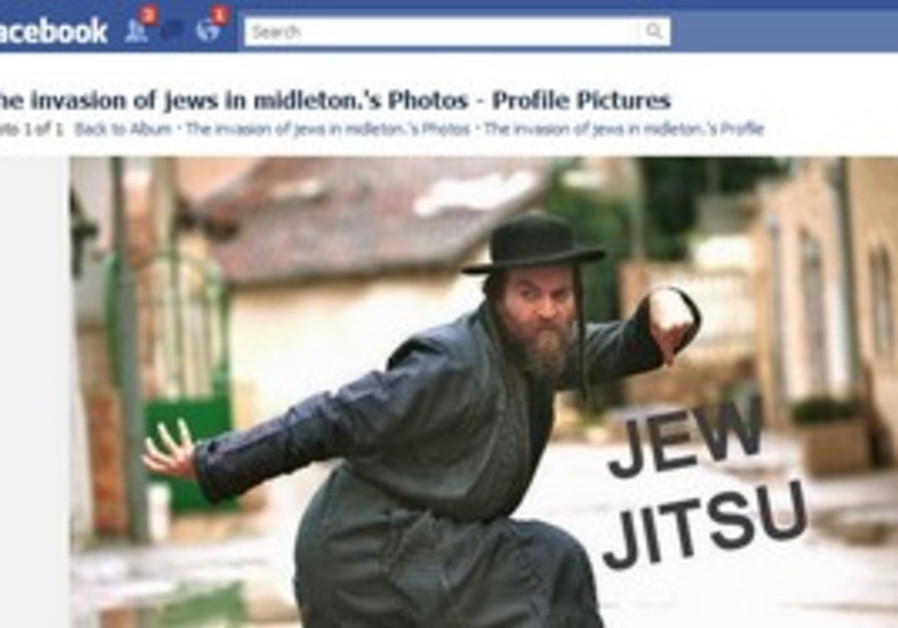 """The photo of the Facebook page """"The Jewish invasion of midleton."""""""