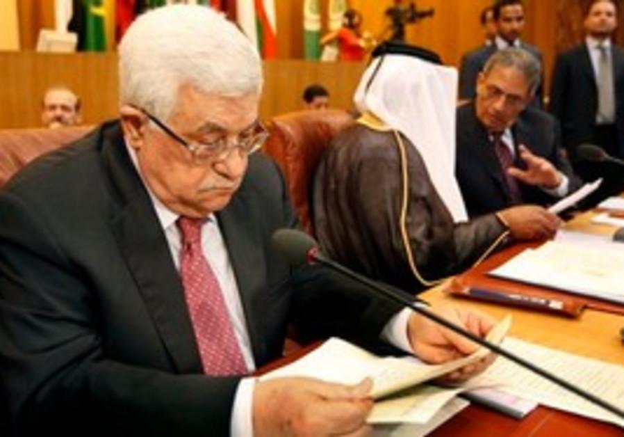 Palestinian President Mahmoud Abbas, left, Qatari Prime Minister Sheikh Hamad bin Jassem al-Thani, c