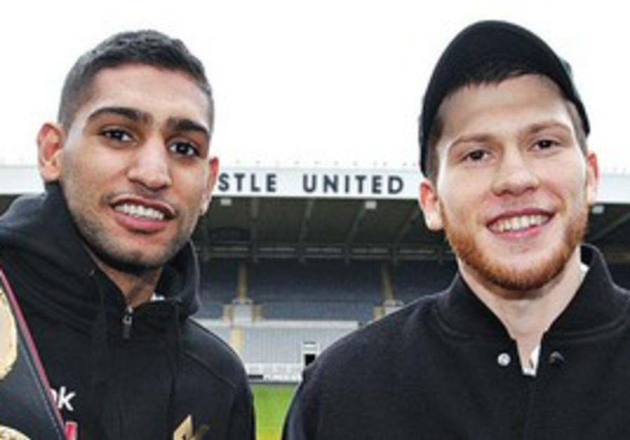 DMITRIY SALITA (right) lasted only a single round against Amir Khan (left) in his last bout. The 'St