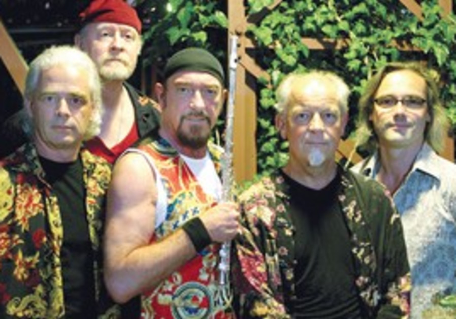 FRONTMAN FLAUTIST Anderson (third from left), with Jethro Tull, says he's made an informed decision