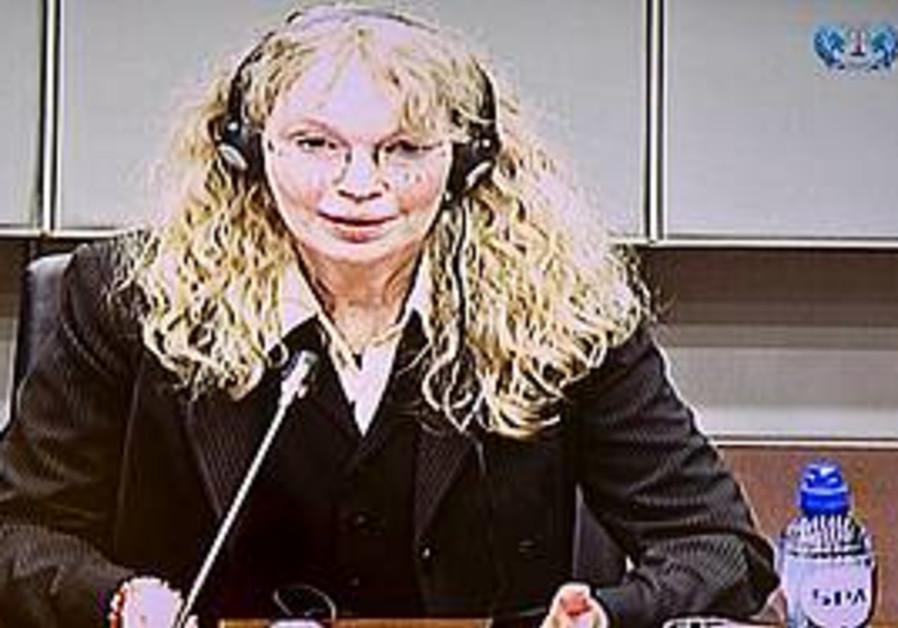 Mia Farrow at the Charles Taylor war crimes trial
