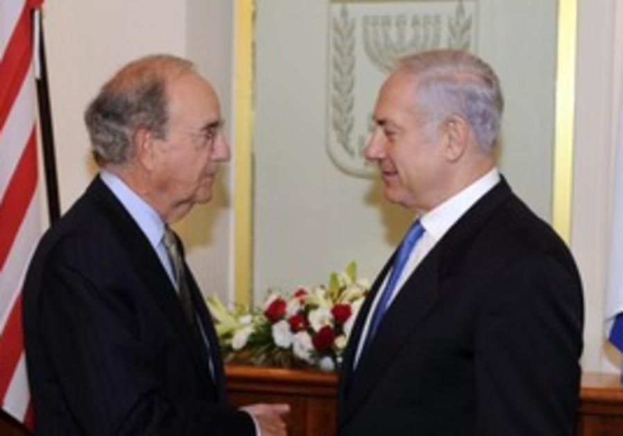 US envoy George Mitchell meeting Prime Minister Binyamin Netanyahu.