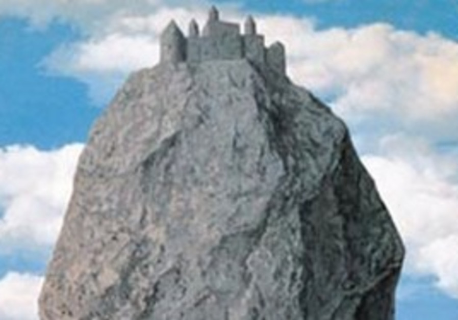 'THE CASTLE of the Pyrenees' by Rene Magritte, oil on canvas, 1959.