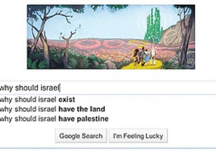 What you see when you google Israel