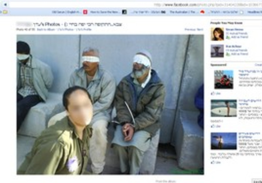 Former IDF soldier posted photos of her with detained Palestinians.