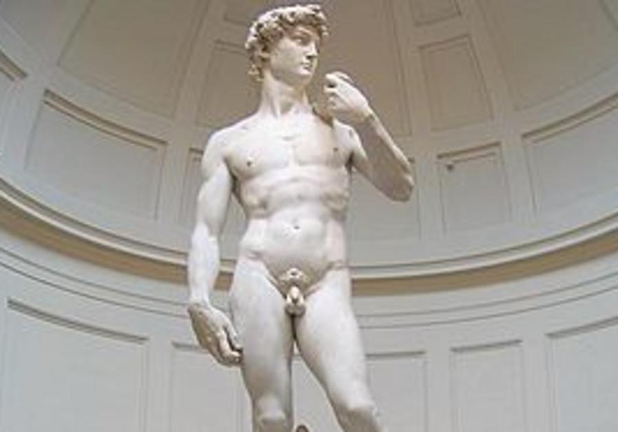 """Michaelangelo's """"David"""" in Florence"""