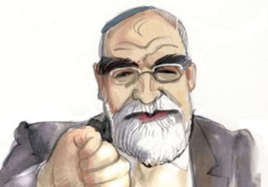 Caricature of MK David Rotem