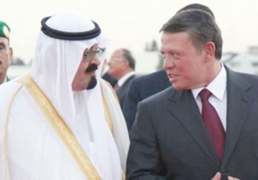 KING ABDULLAH of Saudi Arabia and Jordan's King Abdullah II. The Arab Peace Initiative was first pro